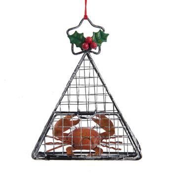 Wire Red Crab Trap Ornament