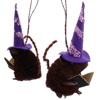 Buri Witch Mice Halloween Ornament brown mouse
