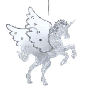 Sheer and Feathered Wings Alicorn Ornament