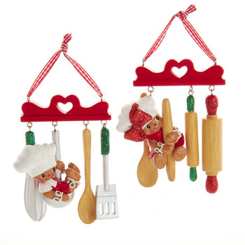 Gingerbread Dangling Kitchen Utensils Ornament