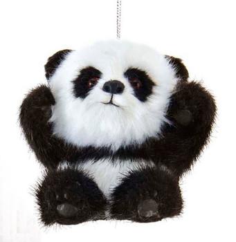 Furry Baby Panda Ornament