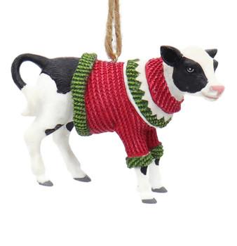 Fun Winter Attire Farm Animal - Baby Cow Ornament