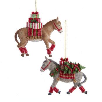 Donkey w/Gifts Ornament