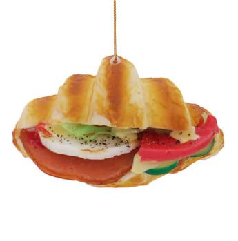 Imitation Croissant Sandwich Foam Ornament with tomato fornt