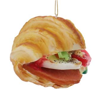 3 pc Imitation Croissant Sandwich Foam Ornament SET with tomato right side
