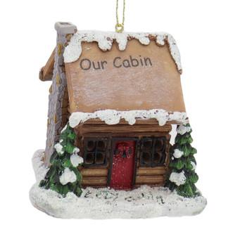 LED Light Up Our Log Cabin Ornament
