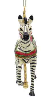 Carousel Zebra Ornament Front