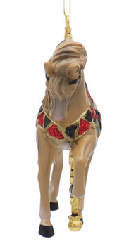 Carousel Brown Horse with Tan Mane Ornament Front
