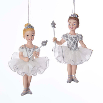 2 pc White and Silver Ballet Princess SET