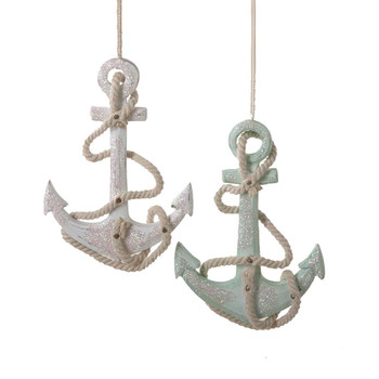 Wooden Anchor Ornament