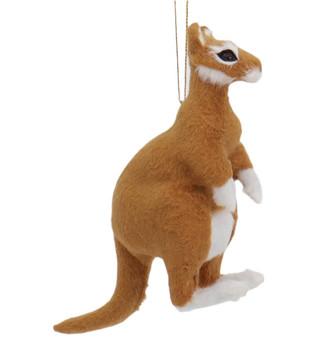 Furry Brown Kangaroo Ornament