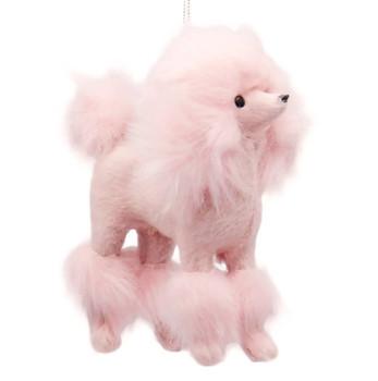 Plush Pink Poodle Ornament