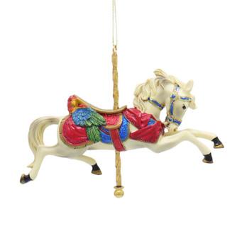 Carousel White Horse Ornament