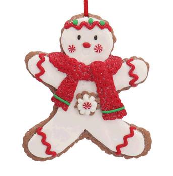 4 pc Festive Cut Out Cookie Ornaments SET Snowman front