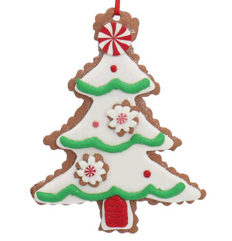 Festive Christmas Tree Cut Out Cookie Ornament
