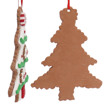 Festive Christmas Tree Cut Out Cookie Ornament Side Back