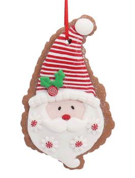 Festive Santa Cut Out Cookie Ornament