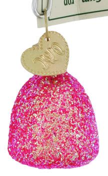 Gumdrop Glass Ornament Pink
