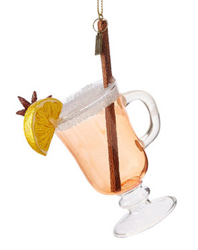 Winter Cocktail Hot Toddy Glass Ornament