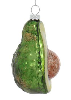 Decorative Half Avocado with Pit Glass Ornament right side