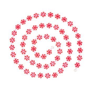 Peppermint Swirls and Beads Garland
