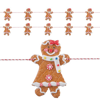 Short Gingerbread Girl Polyvinly Garland