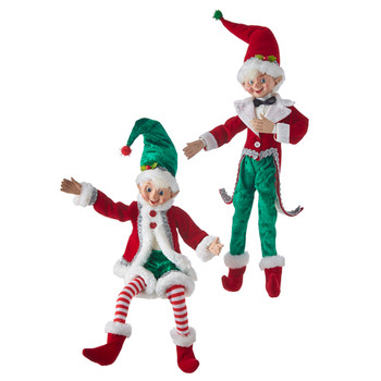 Fun Antics Posable Elf Doll Shelf Sitter