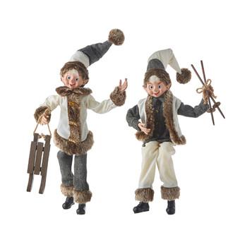 Winter Chalet Posable Elf Doll Shelf Sitter
