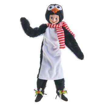 Penguin Costume Posable Elf Doll Self Sitter