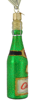 Cheers Champagne Bottle Old World Christmas Glass Ornament 32153 side