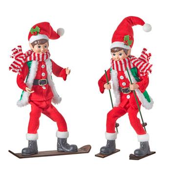 Snow Sport Posable Elf Doll Shelf Sitter