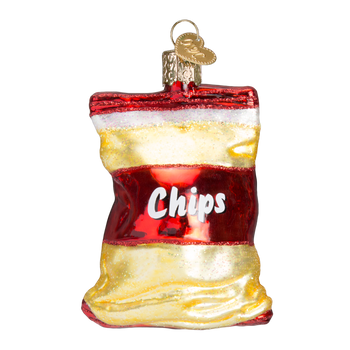 Bag of Chips Glass Ornament
