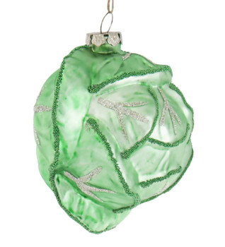 Cabbage Glass Ornament Right Side