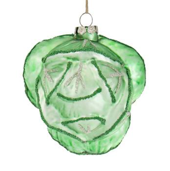 Cabbage Glass Ornament