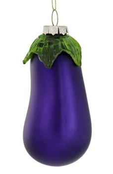 "Eggplant Glass Ornament, 4"", RGGO-6698"