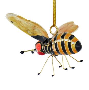 Cloisonne Bee Ornament Left Side