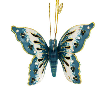 Cloisonne Articulated Butterfly Ornament