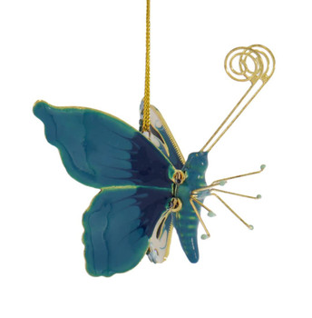 Cloisonne Articulated Butterfly Ornament Right Side
