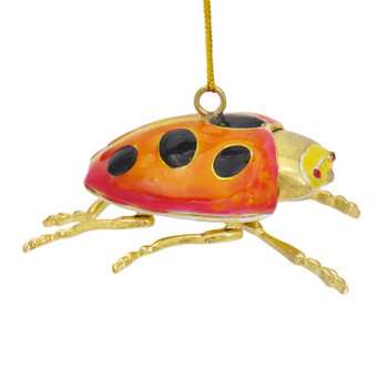 Cloisonne Ladybug Ornament