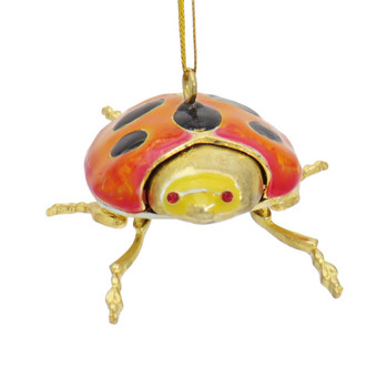Cloisonne Ladybug Ornament Front