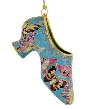 Cloisonne Butterfly Design Ladies Shoe Ornament
