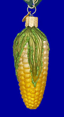 Ear of Corn Corn on Cob Old World Christmas Glass Ornament 28100