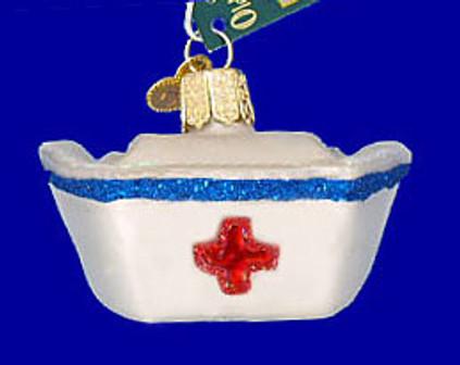 Nurses Cap Old World Christmas Glass Ornament 36146