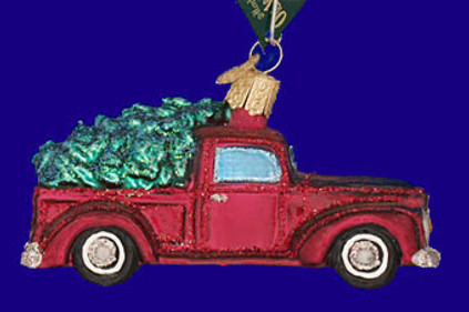 Old Truck with Tree Old World Christmas Glass Ornament 46029