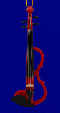 Electric Violin Ornament Red 5.625