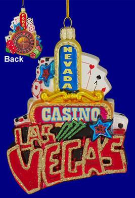 Las Vegas Ornament Glass