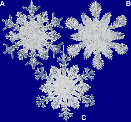 Glitter Frosted Snowflake Ornament Acrylic