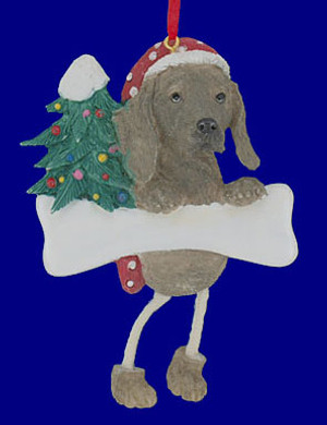 Personalized Weimeraner Dog Ornament