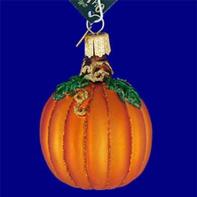 pumpkin Old World Christmas Glass Ornament 28046