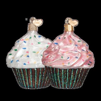 Chocolate Cupcake Glass Ornament